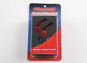 Traxxas 3652X Stub axle carriers, Rustler®/Stampede®/Bandit (2), 6061-T6 aluminum (red-anodized)/ 5x11mm ball bearings (4) 0.11