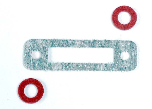 Traxxas 3156 Exhaust header gasket (1)/ gaskets, pressure fitting (2) (for side exhaust engines only) 0.01