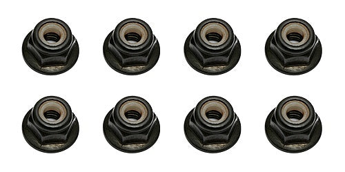 Team Associated 91148 M4 Locknuts Flange+Knurl