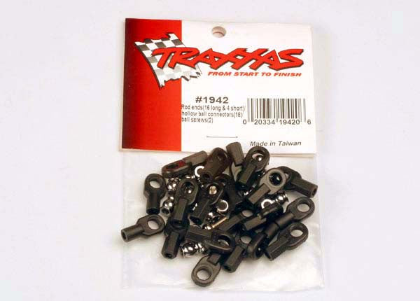 Traxxas 1942 Rod ends (16 long & 4 short)/ hollow ball connectors (18)/ ball screws (2) 0.055