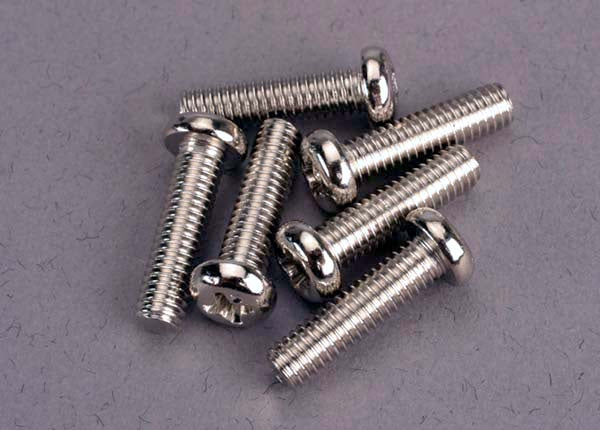 Traxxas 2573 - Screws, 4x15mm roundhead machine (6)