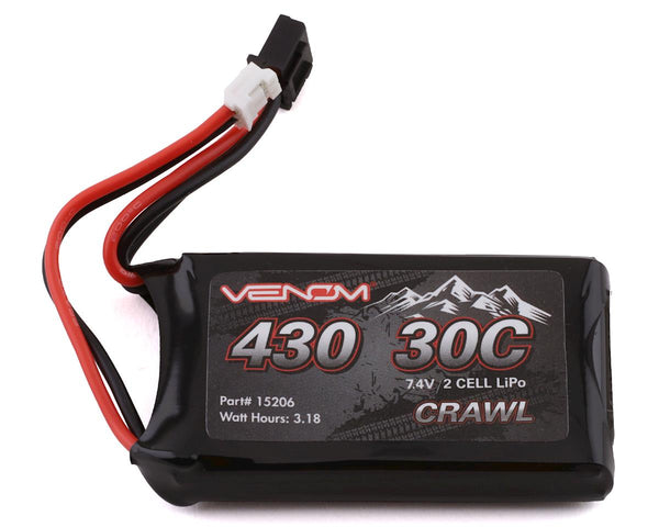 Venom 15206 Power Axial SCX24 2S 30C LiPo Battery (7.4V/430mAh)