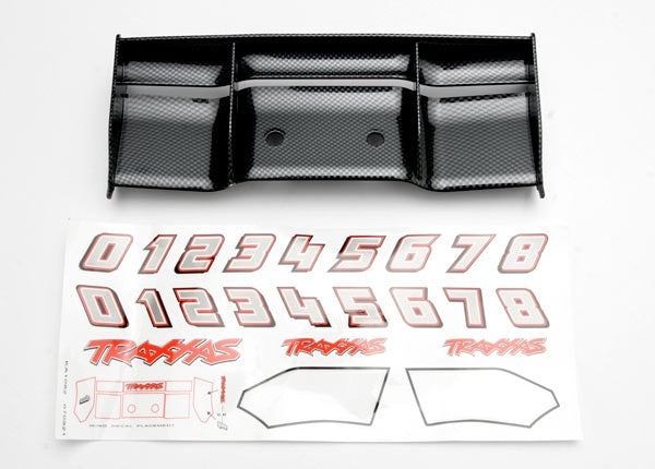 Traxxas 5446G - Wing, Revo® (Exo-Carbon finish)/ decal sheet
