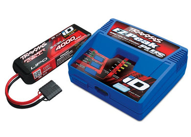 Traxxas 2994 - 2994 - Battery/charger completer pack (includes #2970 iD® charger (1), #2849X 4000mAh 11.1v 3-Cell 25C LiPo Battery (1))