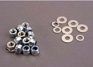 Traxxas 1846 Nut set, nut & washer set for Sledgehammer (3mm lock nuts (11), 3mm flange nuts (2)) 0.025