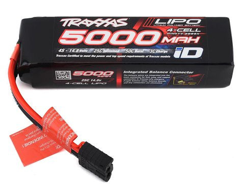 Traxxas 2889X 5000mAh 14.8v 4-Cell 25C LiPo Battery 1.176