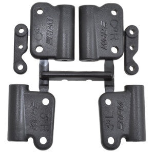 RPM 73642 0° & 3° Hybrid Gearbox Rear Mount Set (Black)