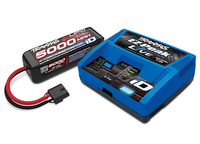 Traxxas 2996 - Battery/charger completer pack (includes #2971 iD charger (1), #2888X 5000mAh 14.8V 4-cell 25C LiPo battery (1))