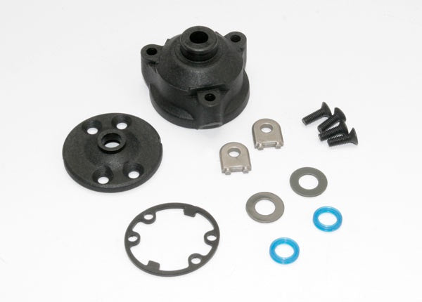 Traxxas 6884 Housing, center differential/ x-ring gaskets (2)/ ring gear gasket/ bushings (2)/ 5x10x0.5 TW (2)/ CCS 2.5x8 (4) 0.035
