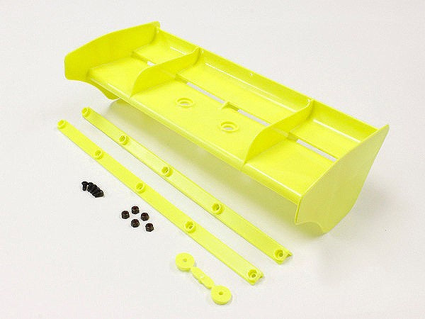Kyosho MP9 TKI4 1/8 Plastic Wing w/Wickerbills (Yellow)