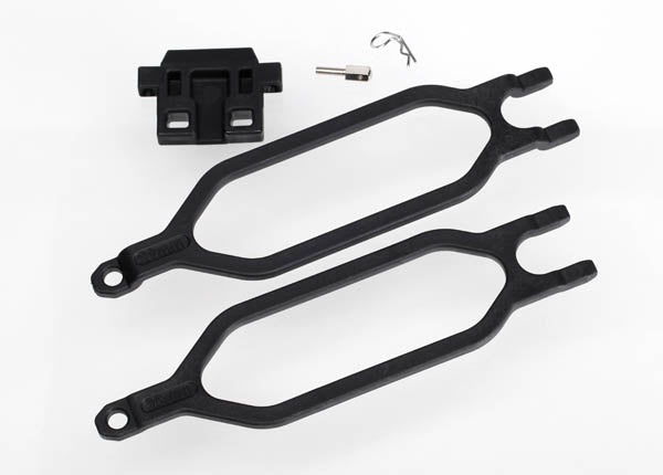 Traxxas 6727X Hold down, battery/ hold down retainer/ battery post/ angled body clip (allows for installation of taller, multi-cell batteries) 0.08
