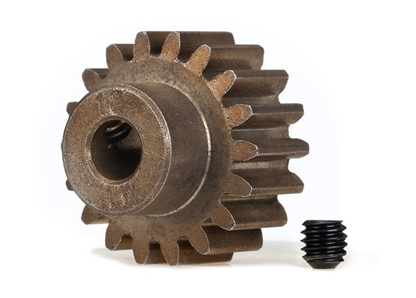 Traxxas 6491X Gear, 18-T pinion (1.0 metric pitch) (fits 5mm shaft)/ set screw (compatible with steel spur gears) 0.04