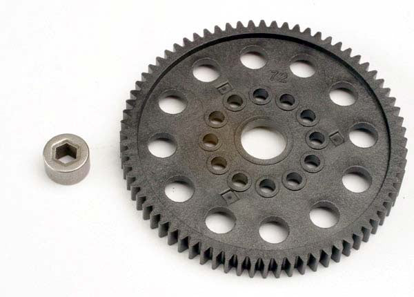 Traxxas 4472 Spur gear (72-Tooth) (32-pitch) w/bushing 0.035