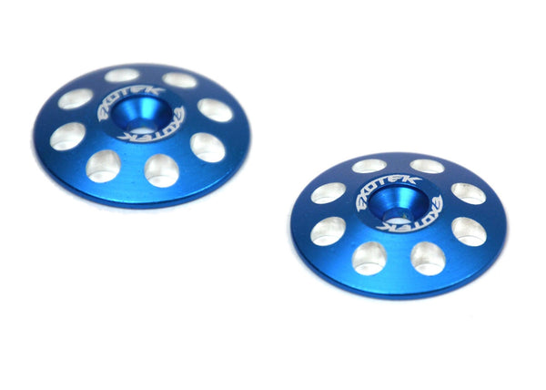 Exotek 1665BLU 1/8 Buggy XL Wing Buttons, 22mm (2), Blue