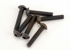 Traxxas 2579 Screws, 3x15mm button-head machine (hex drive) (6) 0.015
