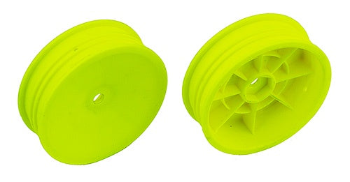 "Team Associated 91758 Slim 2WD 2.2"" Front Wheels, Yellow, 12mm Hex, for B6 and B6D"