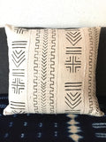 Black and white mud cloth cushion cover