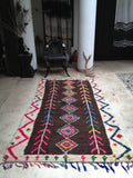 Vintage Moroccan rug - Boucherouite Dark forest **SOLD OUT**
