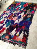 Vintage Moroccan rug - Boucherouite In the middle of it all **SOLD OUT**