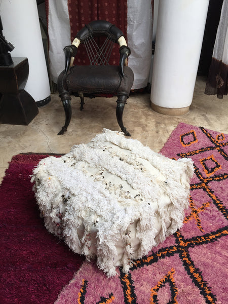 Handira wedding blanket pouf