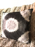 Tie dye black and white cushion cover.
