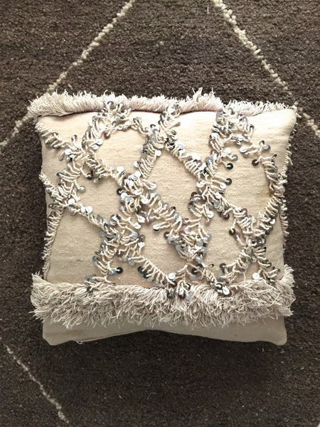 Vintage Moroccan HANDIRA pillow cover