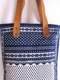 Mykonos Tote bag white and blue