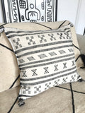 Sabra silk cushion Black and white