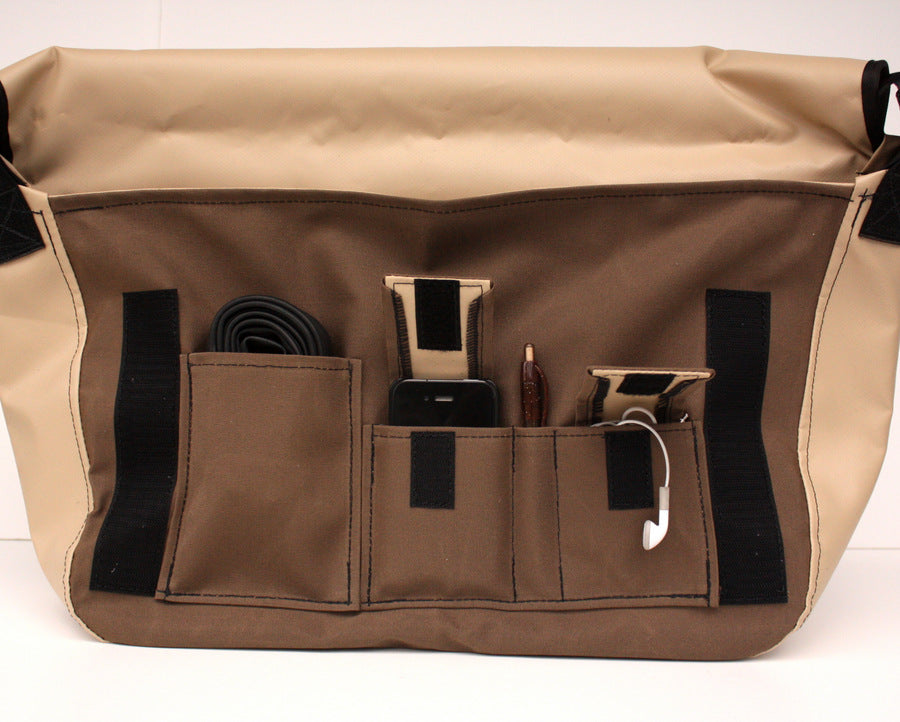 Vaya Bags Standard Brown Bike Messenger Bag Under Flap