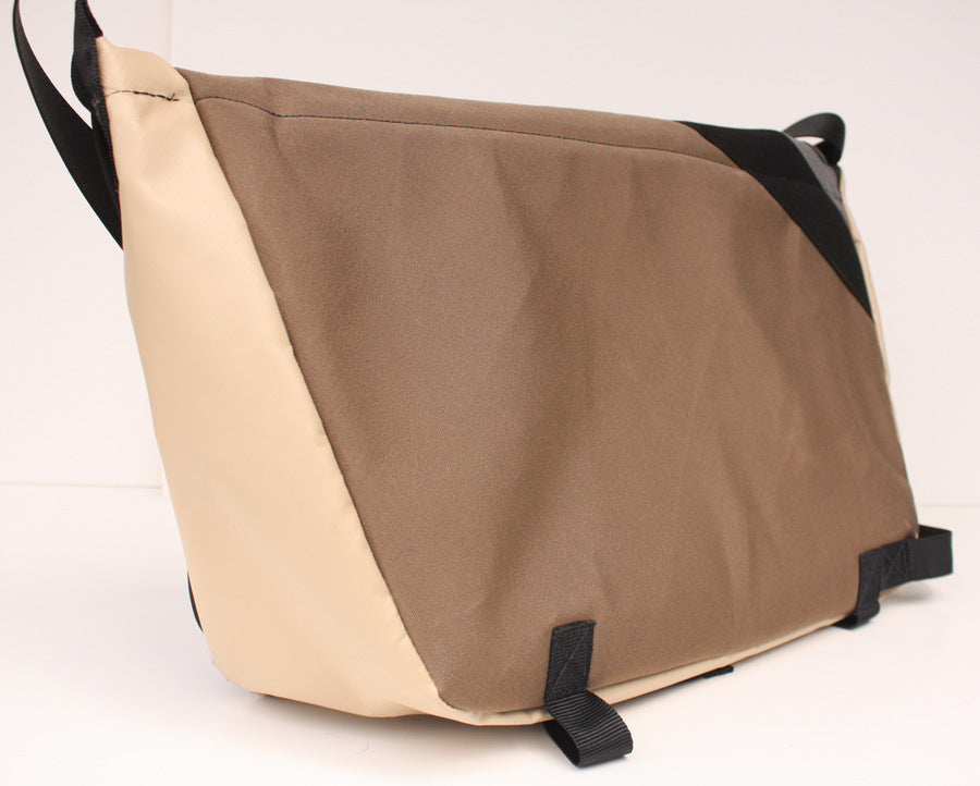 Vaya Bags Standard Brown Bicycle Messenger Bag Back