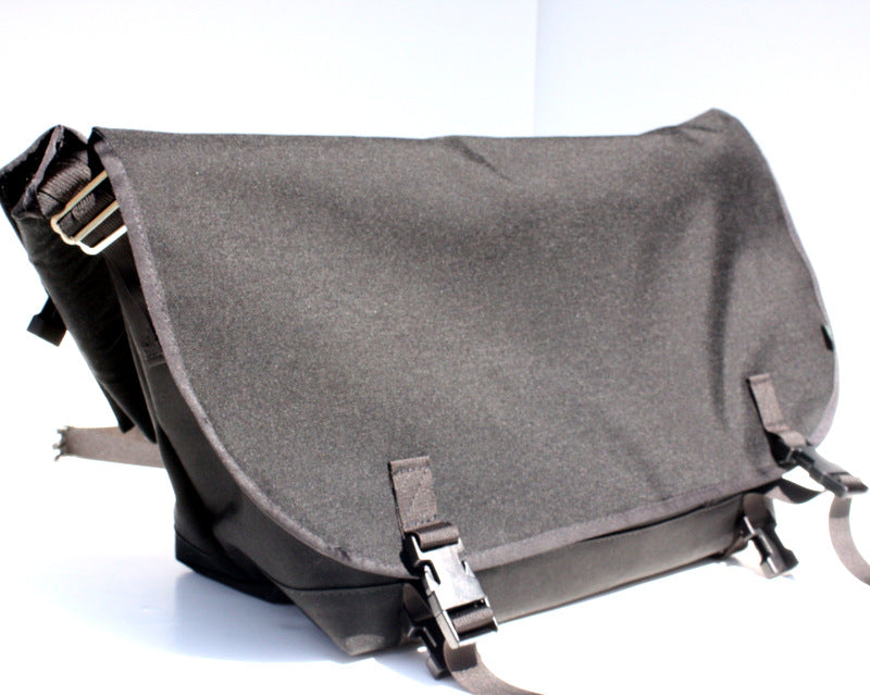 Black Bike Messenger Bag