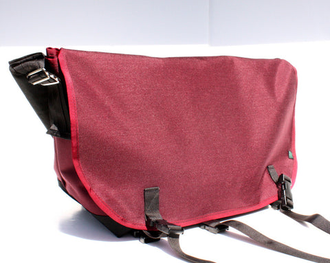 Mer Bags Burgundy Medium Bike Messenger Bag (w/ padded back & interior pocket)