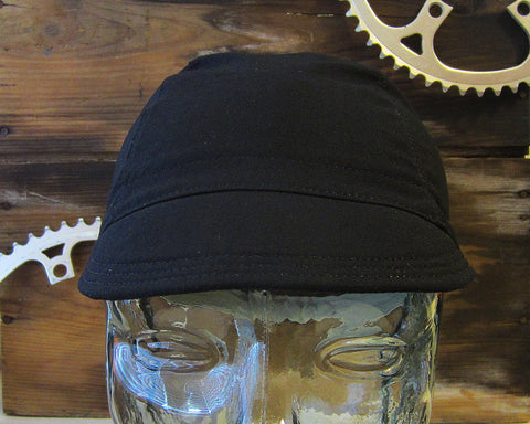 Ellum Bagworks Black Cycling Cap