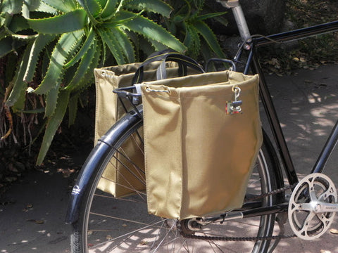 Black Bicycle Panniers by Paris Packs
