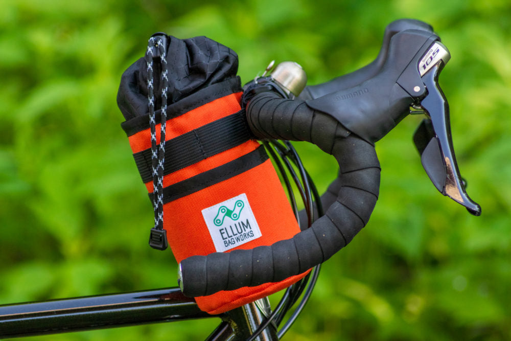Hitchhiker Drink Holder + Handlebar Bag by Ellum Bag Works