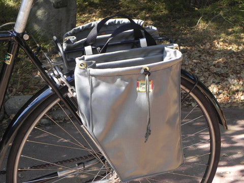 Grey Bicycle Panniers by Paris Packs
