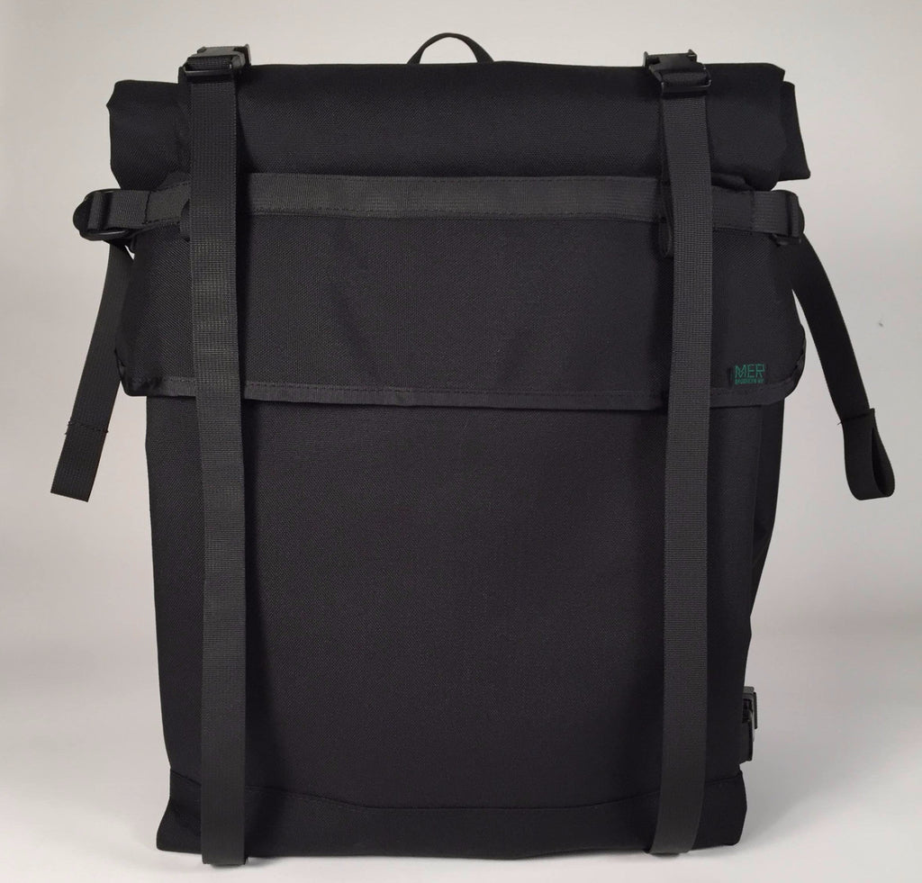 62f6cc6c78e3 ... XL Black Roll Top Backpack by Mer Bags ...
