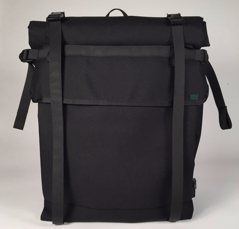 2d1d97417175 ... XL Black Roll Top Backpack by Mer Bags