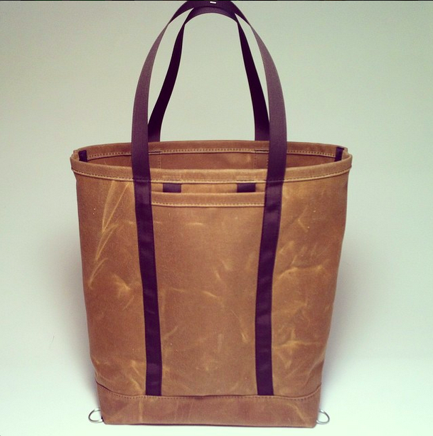 Waxed Canvas Tote Bag w/ Backpack Straps