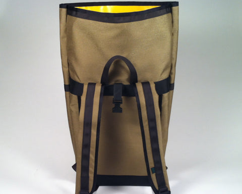 Tan/Khaki Roll Top Backpack by Mer Bags