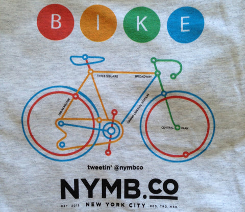 NYC Bike Map T-Shirt