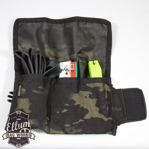 Bicycle Tool Roll in Black by Ellum Bag Works