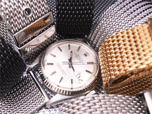 Classic Milanese Mesh Band on Rolex Date Just