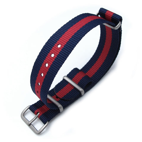 18mm MiLTAT G10 - Dark Blue & Red Stripes, B