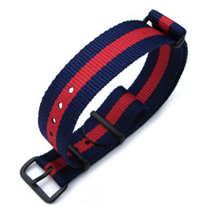 18mm MiLTAT G10 - Dark Blue & Red Stripes, PVD