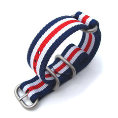 20mm MiLTAT Zulu B - Blue, White, Red Stripes