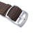 Perlon Strap, Brown, Sandblasted