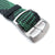 Perlon strap, Black & Green, Sandblasted