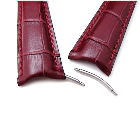 MiLTAT Bordeaux CrocoCalf Curved end, Red St.