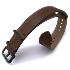 20mm MiLTAT Senno G10 Leather Brown, PVD